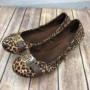 Lauren Ralph Lauren Betty Ballet Flats Cheetah 8B